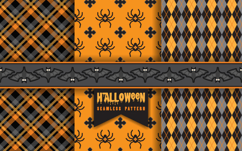 Set-of-Halloween-seamless-patterns