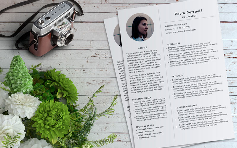 Simple-&-Minimal-Resume-(CV)-Template-PSD-File