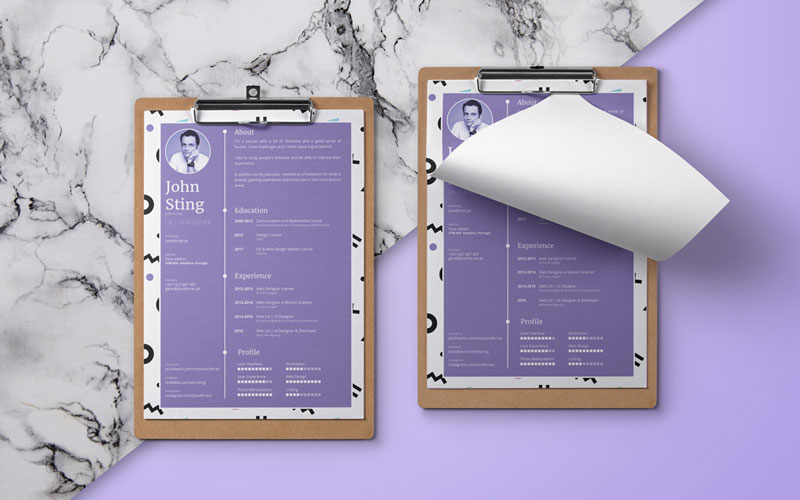 Simple-Minimalist-Resume-(CV)-Design-Template-Ai-File