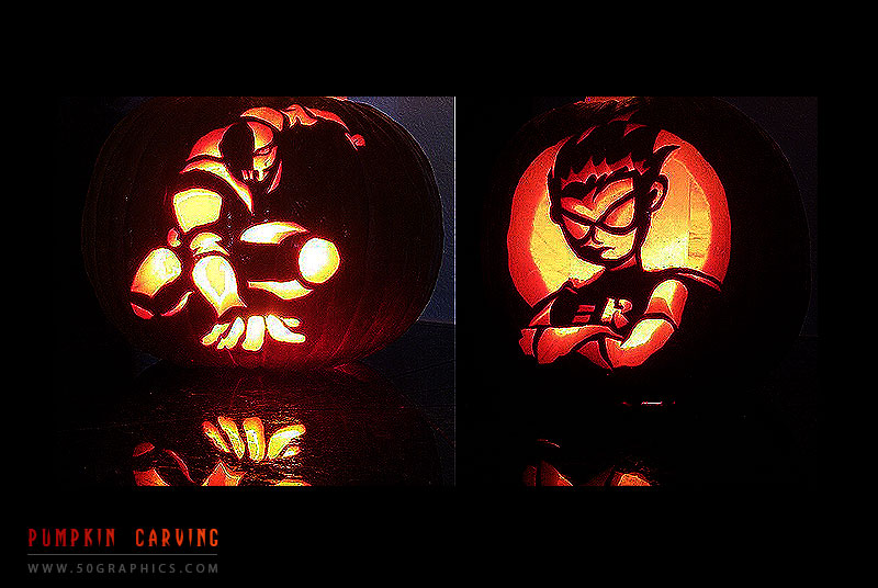 Slade-Vs-Robin-Pumpkins-Carvings