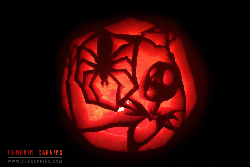 Spider-Pumpkin-Carving