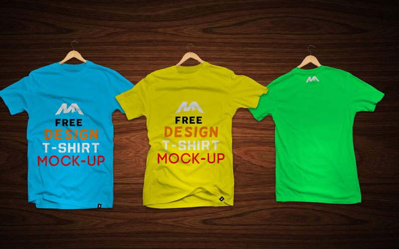 T-Shirts-with-Labels-Mockup
