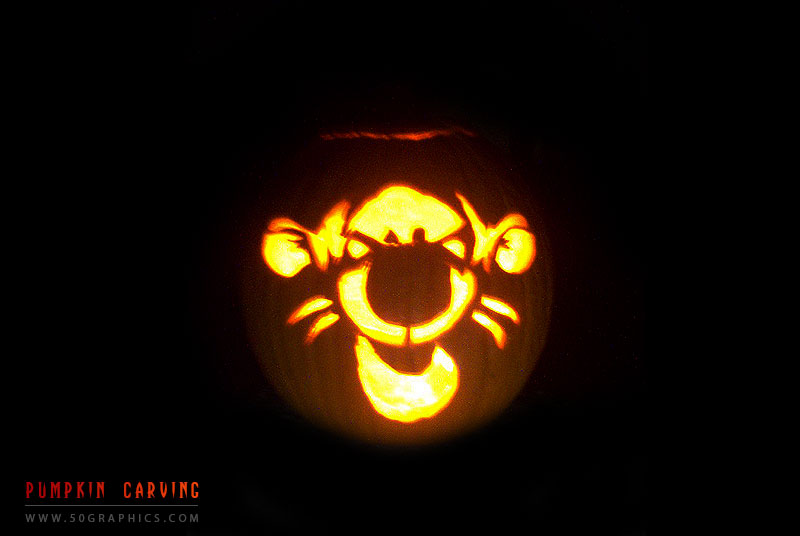 Tiger-Pumpkin-Carving