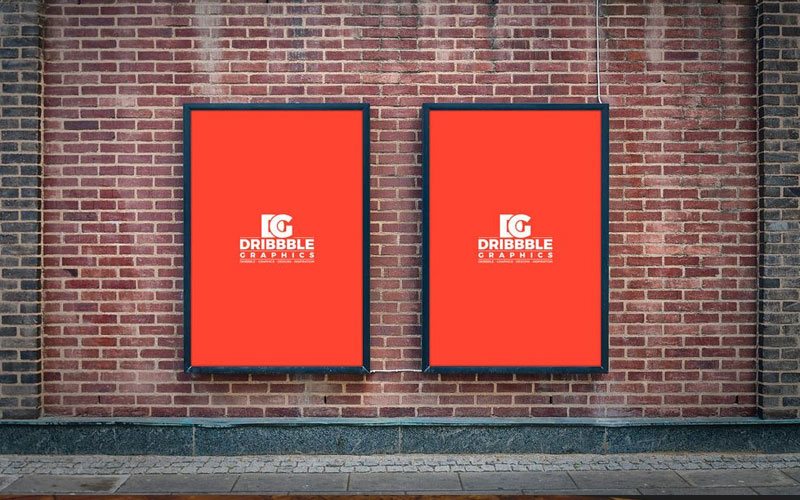 Two-Billboards-on-Brick-Wall-Mockup
