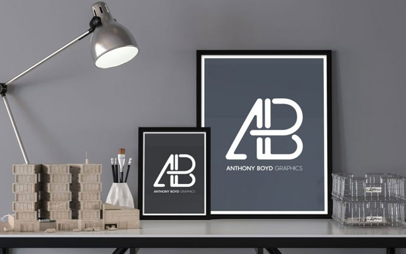 Two-Posters-on-a-Desk-Mockup