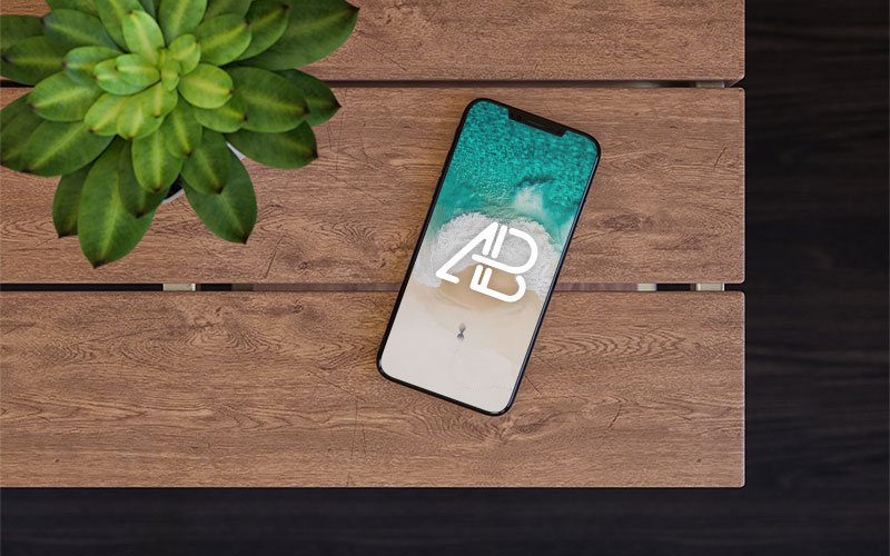 iPhone-X-On-Table-Mockup