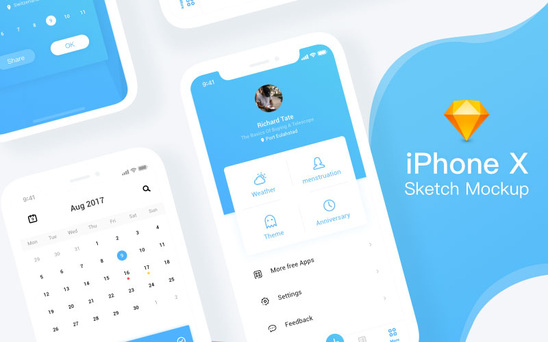 iPhone-X-Sketch-mockup