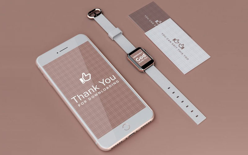 iPhone-and-Apple-Watch-UI-and-Branding-Mockup