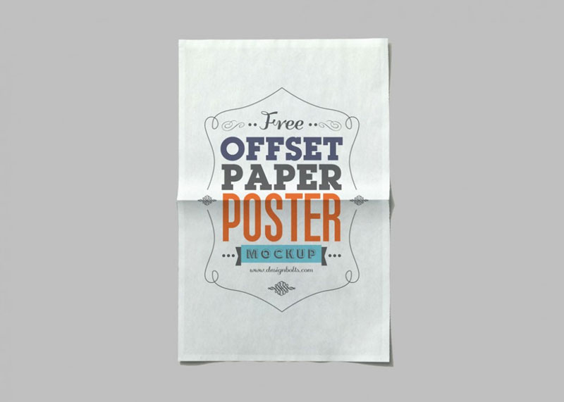 Free-Offset-Paper-Poster-Mockup