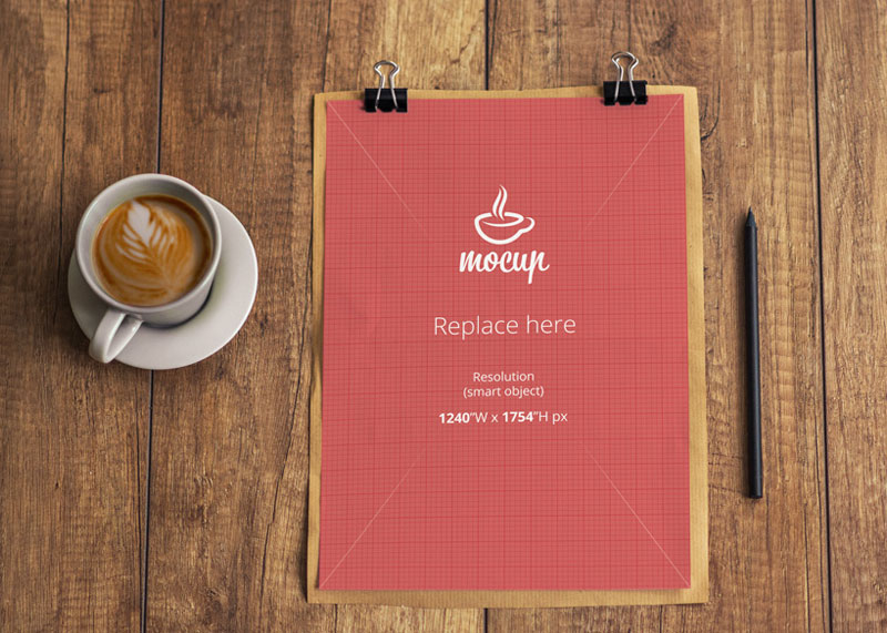 Free-Sheet-of-A4-Paper-Mockup