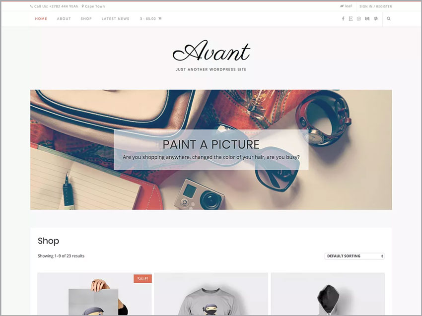 Avant-Free-Wordpress-Ecommerce-Theme