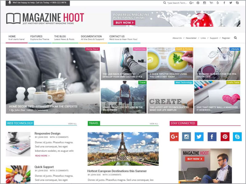 Magazine-Hoot-Theme