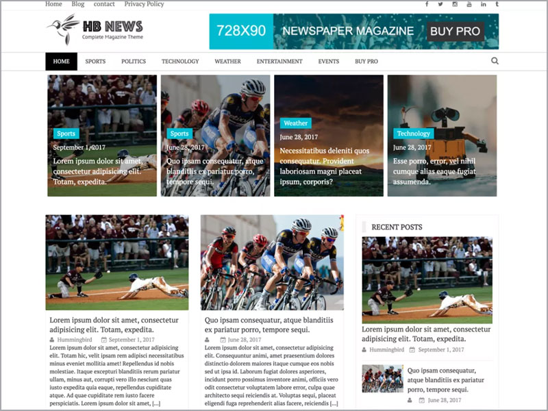 Newspaper-Magazine-Theme