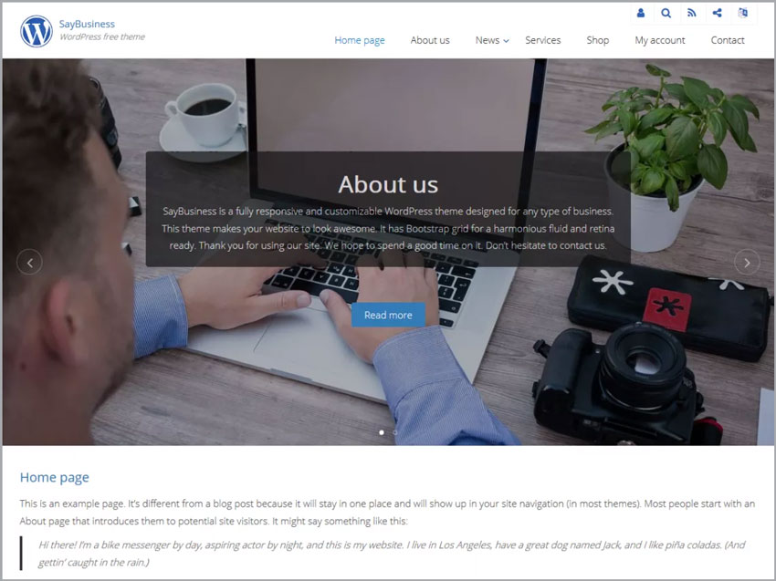 SayBusiness-WP-Theme-For-Free