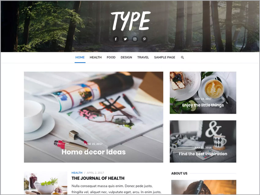 Type-Free-WP-Theme