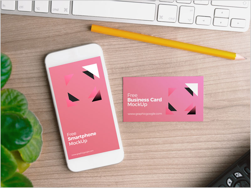 Free-Smartphone-with-Business-Card-Mock-Up-PSD