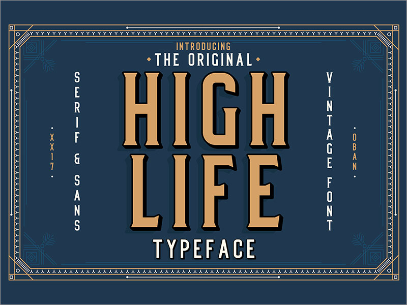 High-Life-Typeface-Free-Font