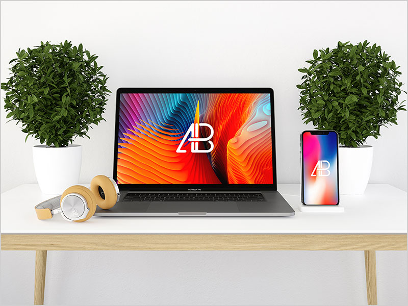 Modern-iPhone-X-And-MacBook-Pro-Mockup