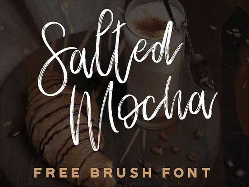 Salted-Mocha-Free-Brush-Font