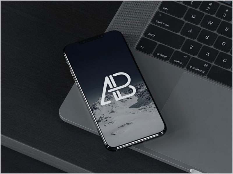 iPhone-8-on-MacBook-Mockup