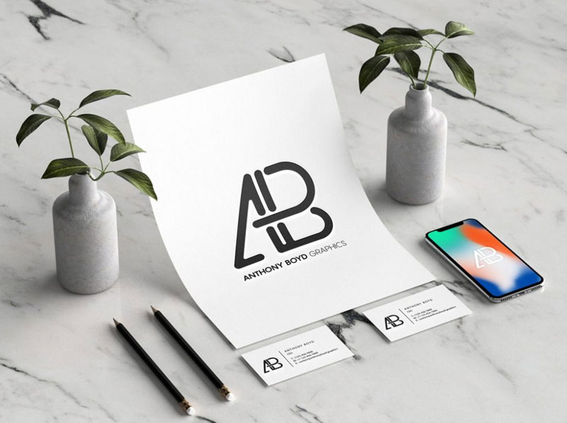 Branding-Identity-with-iPhone-Mockup
