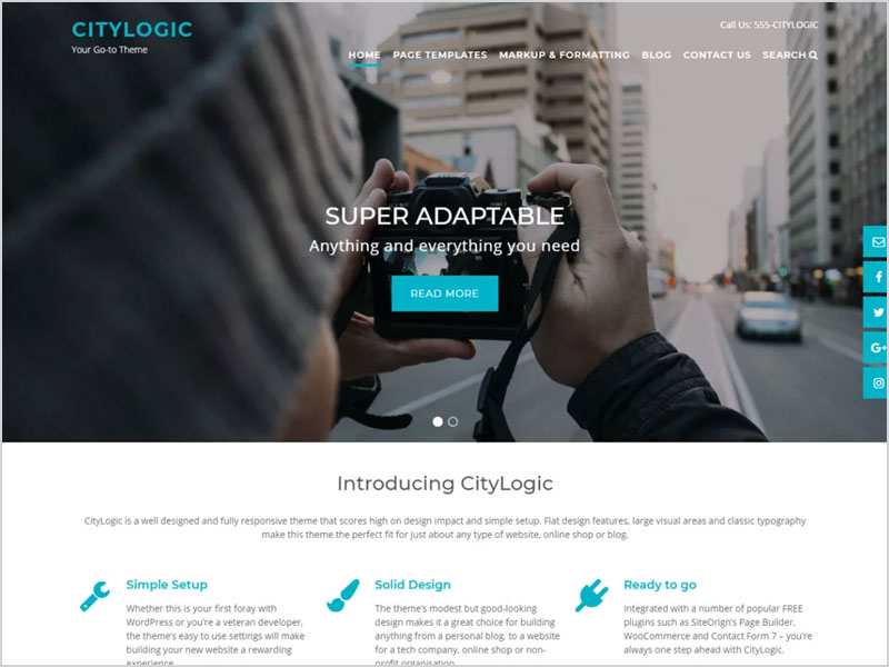 CityLogic-Free-WP-Theme