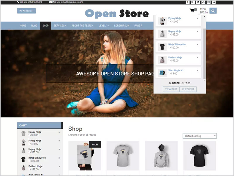 Open-Store-Free-WP-Theme