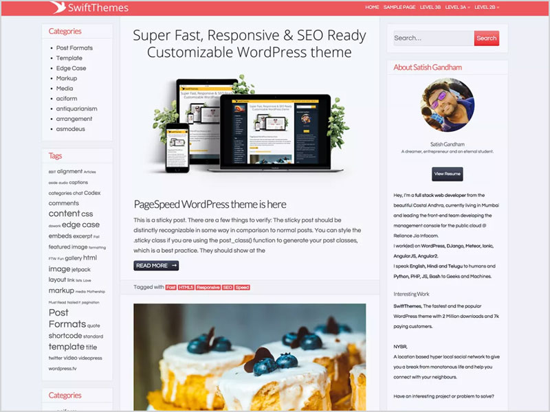 Page-Speed-Free-WP-Theme