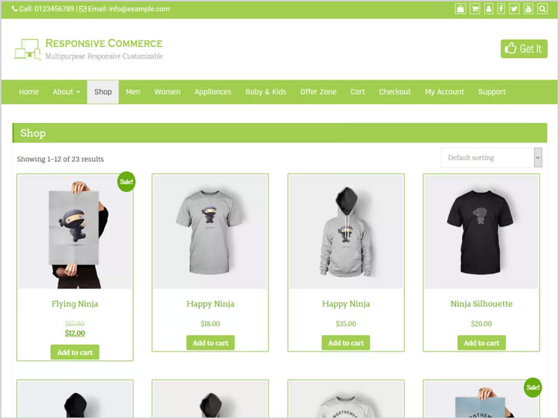 Responsive-Commerce-Free-WP-Theme