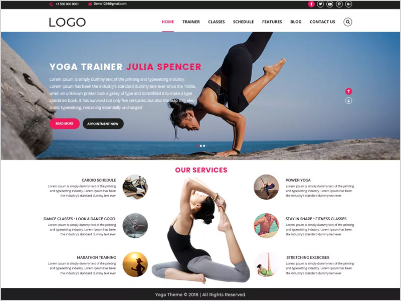 YogaFitness-Free-WP-Theme