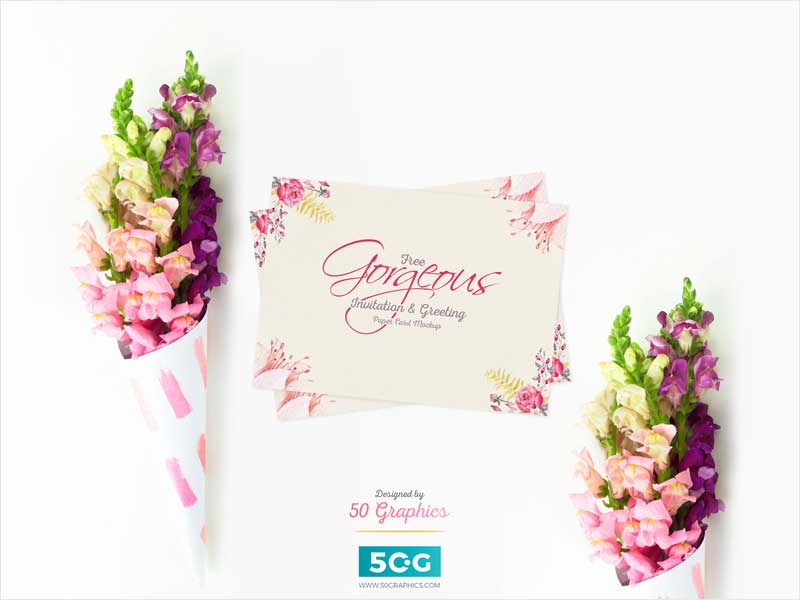 Free-Gorgeous-Invitation-&-Greeting-Paper-Card-PSD-Mockup