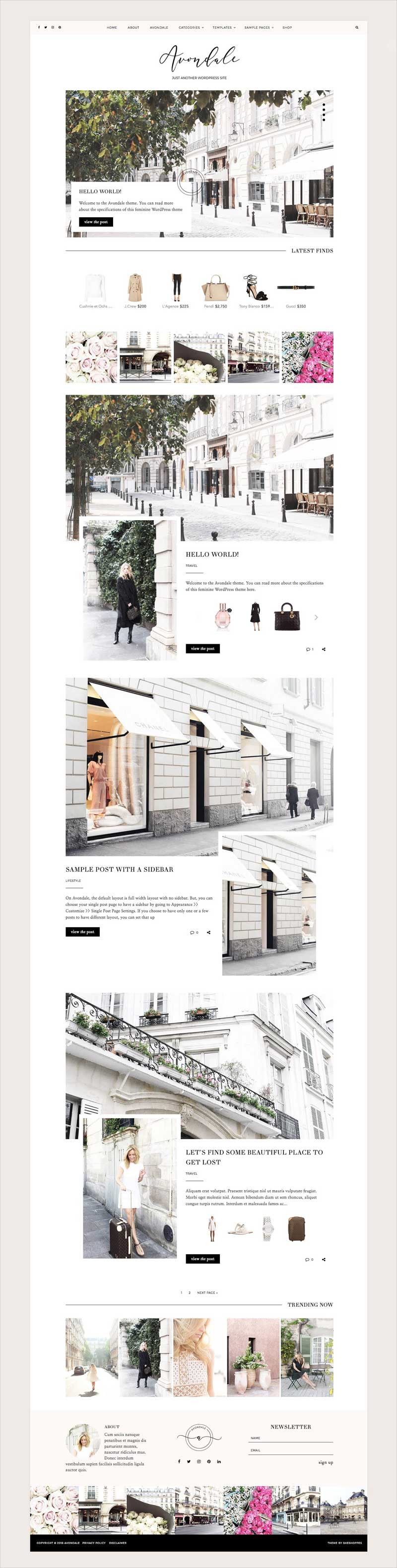 Avondale-Feminine-WordPress-Theme