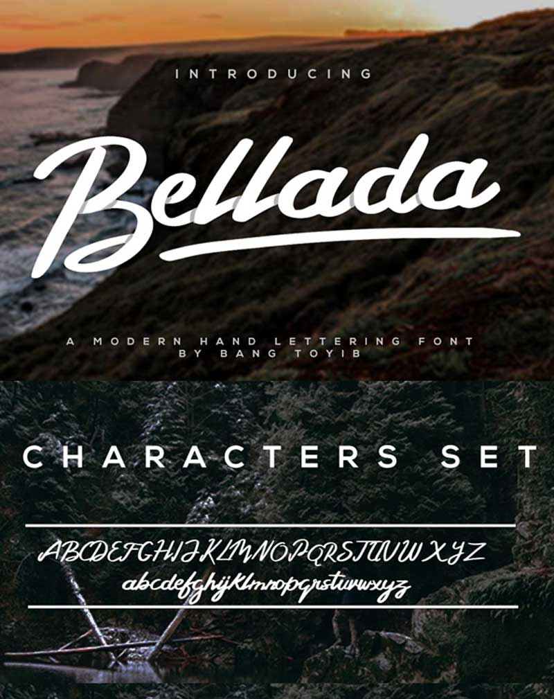 Bellada-Free-Brush-Font-(Personal-Use-Only)