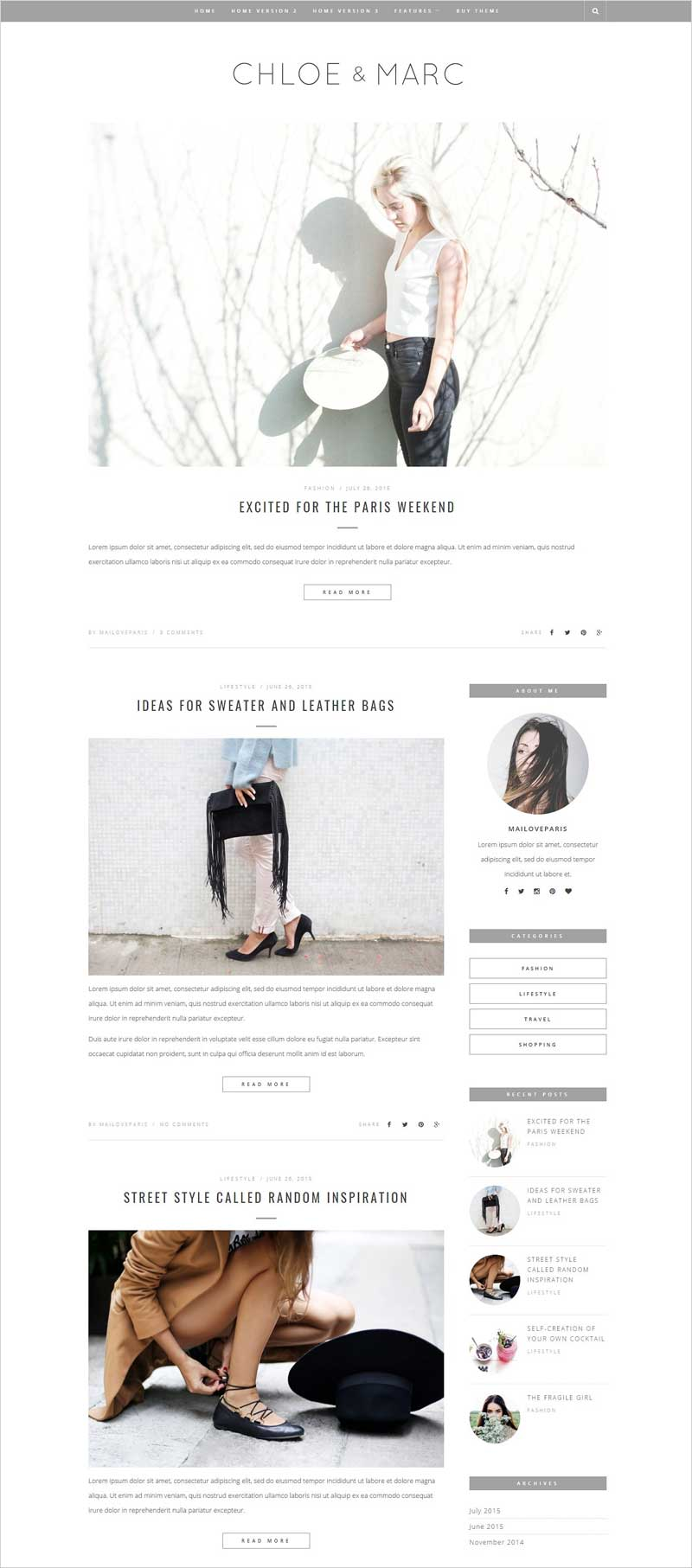 Chloe-&-Marc---Wordpress-blog-theme