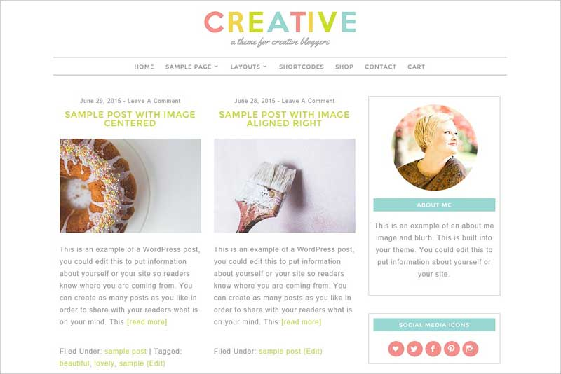 Creative-Feminine-WordPress-Theme