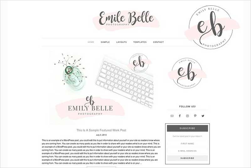 Emily-Belle-WordPress-Theme