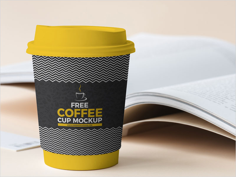 Free-Coffee-Cup-Beside-Book-Mockup-2018