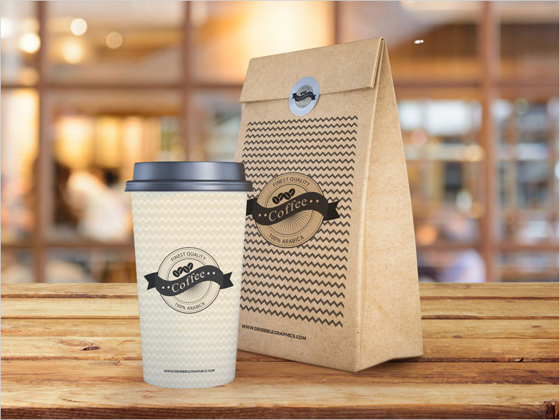 Free-Coffee-Cup-and-Paper-Bag-Mockup-PSD