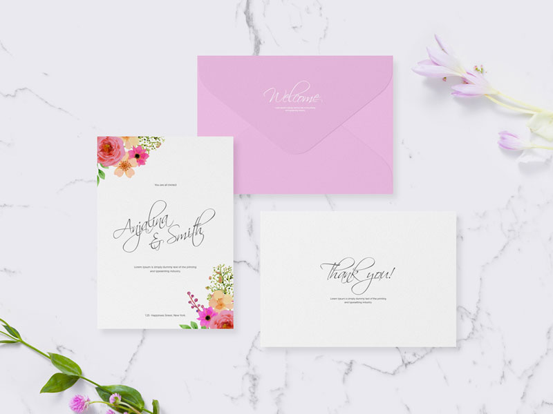 Free-Invitation-Card-Mockup-For-Wedding-&-Greetings