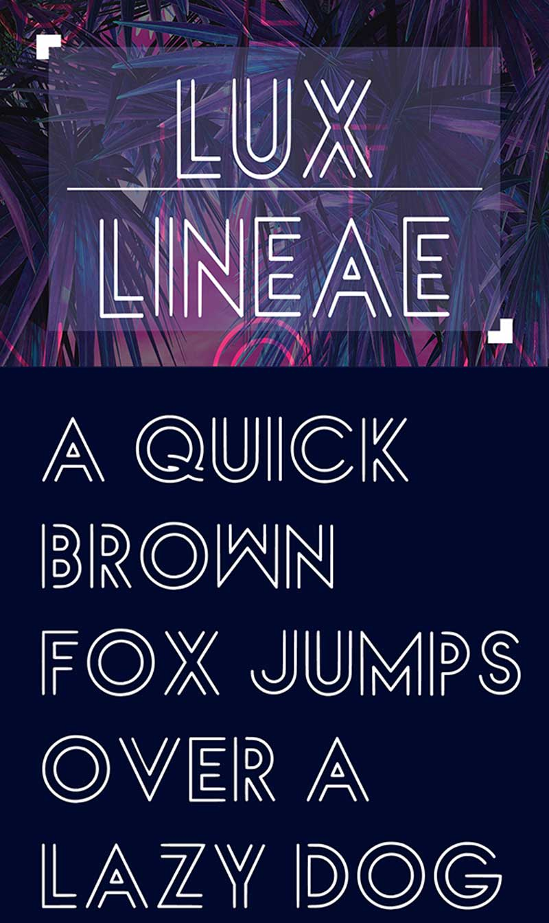 Luxlineae-Free-Font