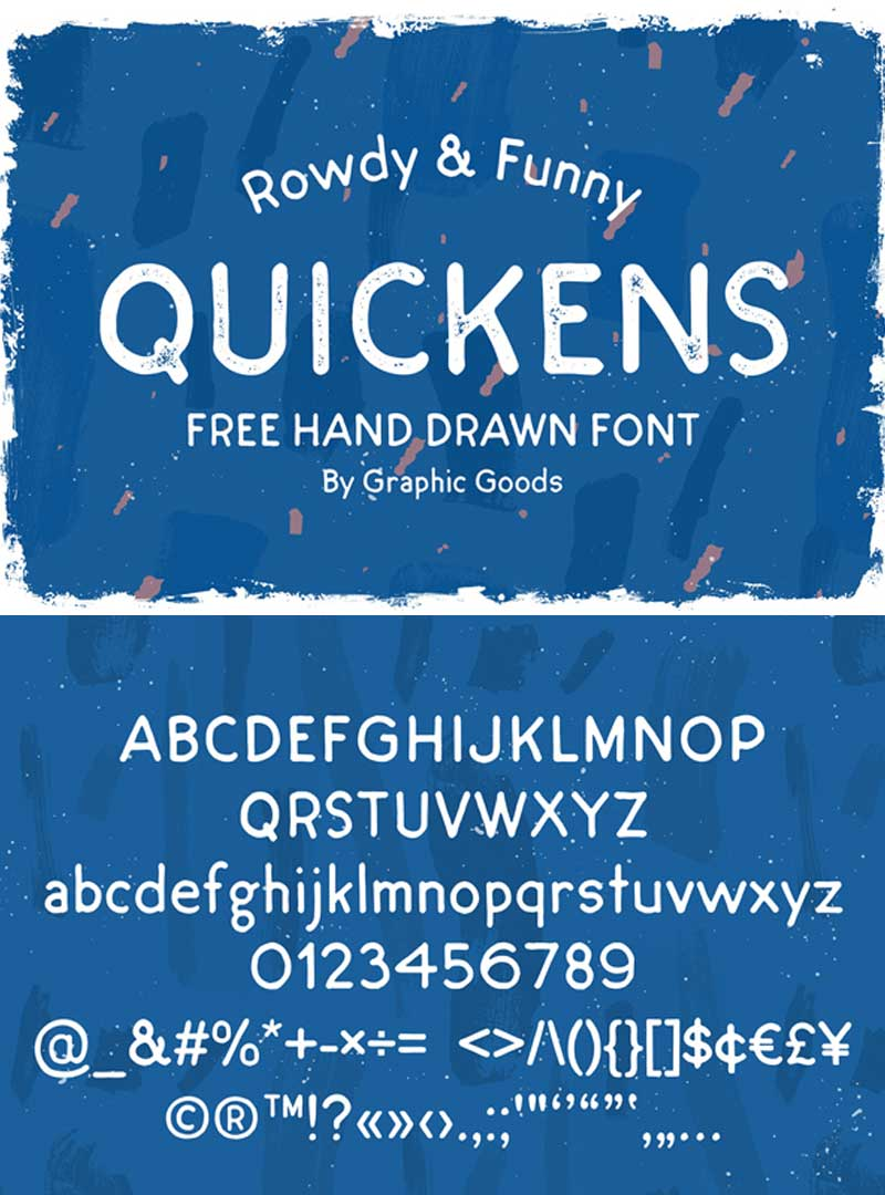 Quickens-Free-Font-(Regular-&-Rough)