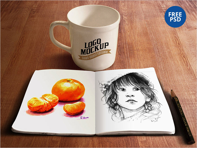 Sketchbook-&-Coffee-Cup-Mockup