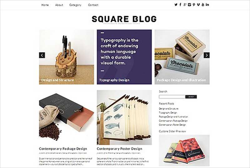 Square-Blog-Responsive-Theme