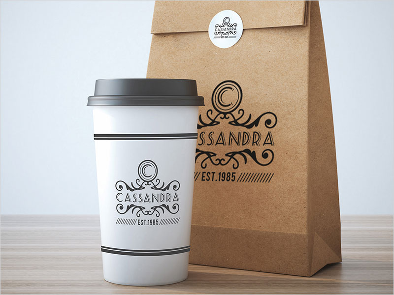 Take-away-coffee-cup-and-bag-mock-up-design-Free-Psd