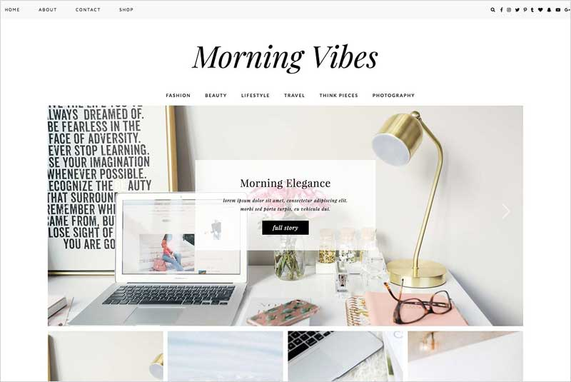 WordPress-Theme-Morning-Vibes