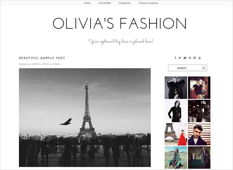 WordPress-Theme---Olivia's-Fashion