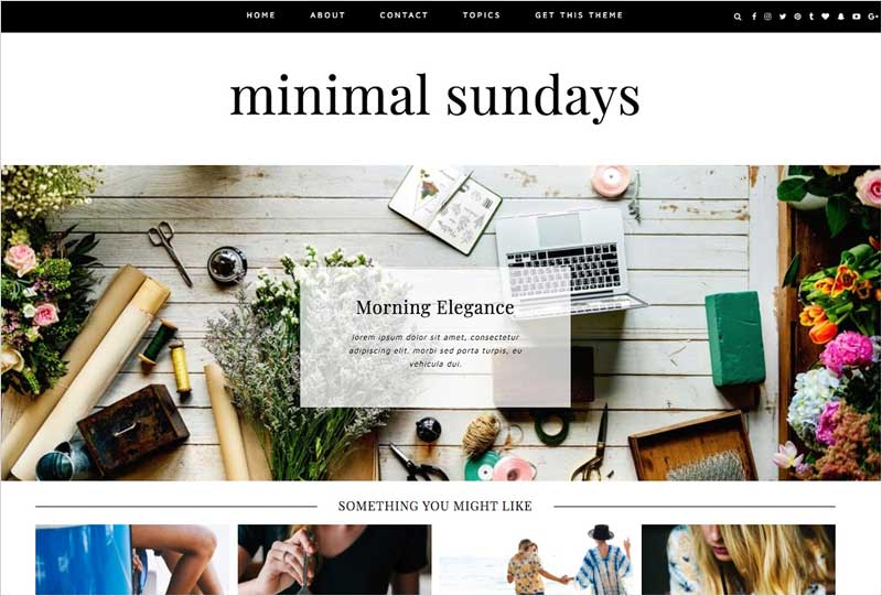 Wordpress-Theme-Minimal-Sundays