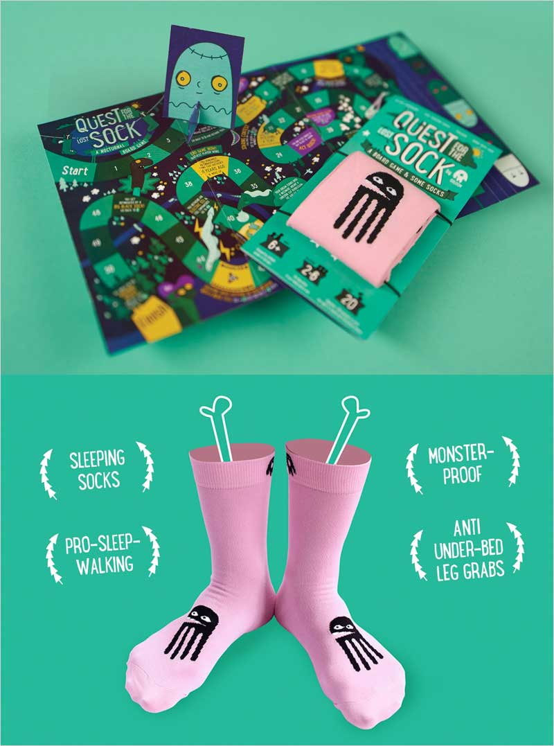 Board-Game-And-Sleeping-Socks