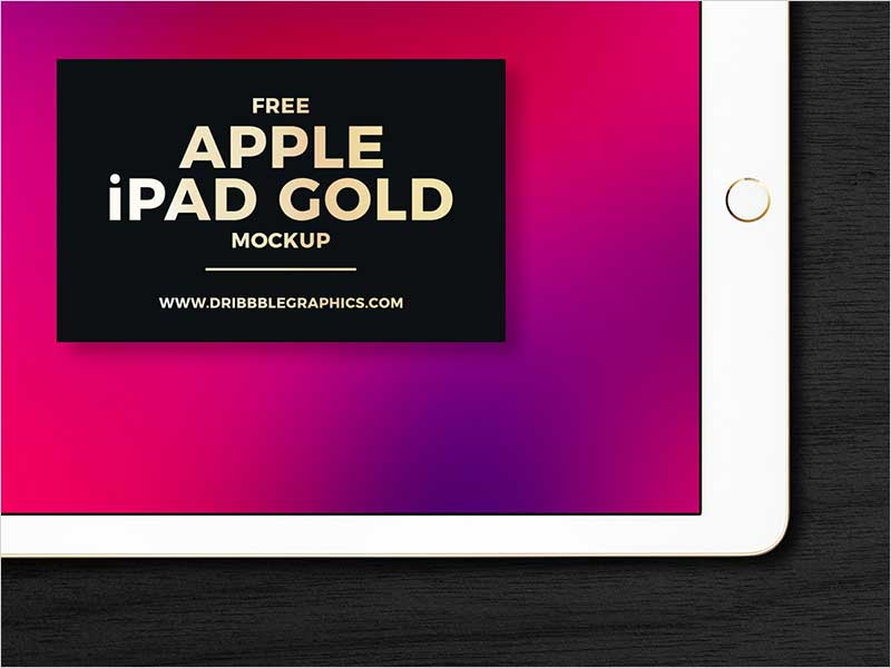 Free-Apple-iPad-Gold-Mockup-2018