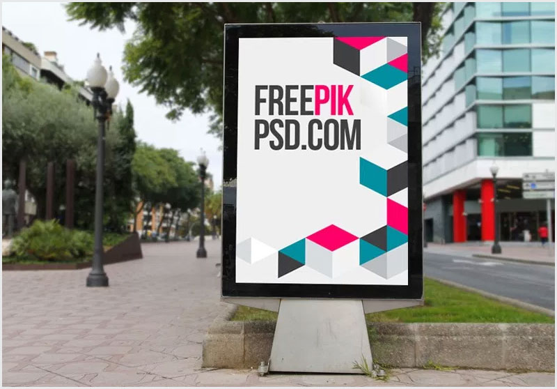Free-Bus-Stop-Advertisement-Poster-Mockup